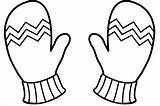 Clipart Mittens Outline Mitten Printable Winter Gloves Coloring Pages Webstockreview Sanfranciscolife sketch template