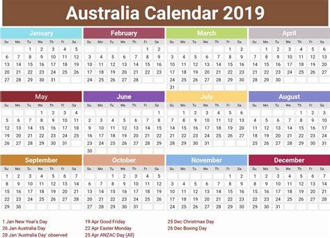 australia calendar holidays printable calendar