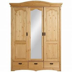 3 Suisses Armoire : armoire penderie 3 portes pin massif home affaire 3suisses ~ Teatrodelosmanantiales.com Idées de Décoration
