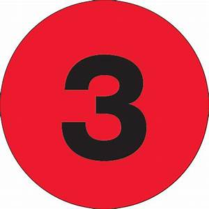 2quot circle quot3quot fluorescent red number labels With circle number labels