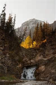 Running Eagle Falls Glacier National Park