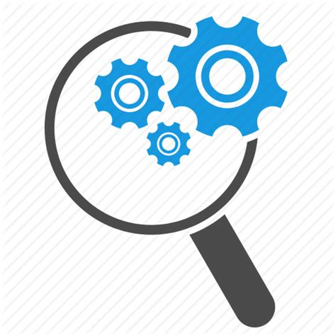 Search Optimization Tools by Configuration Find Gears Magnifying Glass Search