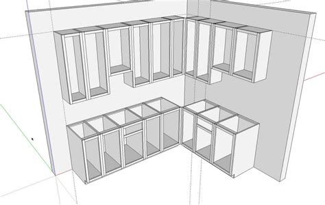 kitchen cabinet design drawing kitchens in sketchup finewoodworking 5228