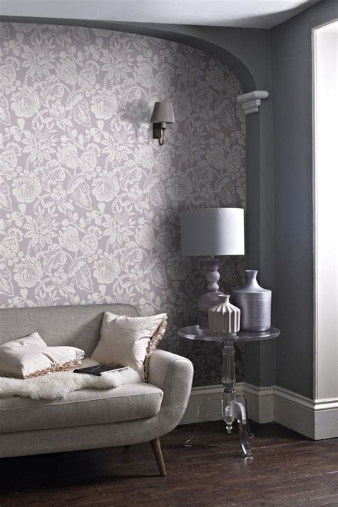 Living Room Wallpaper Lilac by Lilac Wallpaper Living Room Homebase Wallpaper