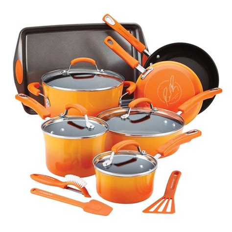 Rachael Ray 14piece Orange Cookware Set With Lids14611. Dining Room Tables Round. Decorating A Bedroom. Rent Rooms. Dorm Decor. Plaid Curtains For Living Room. Cool Home Decor. Lights For Living Room. Rustic Dining Room Set