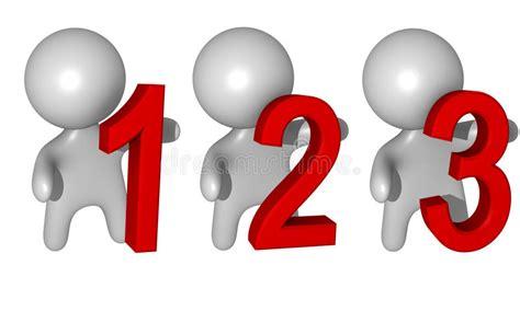 1-2-3 3d Kerels Stock Illustratie. Illustratie Bestaande