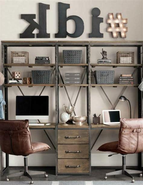 bureau deux personnes idées de décoration d 39 un bureau style industriel archzine fr