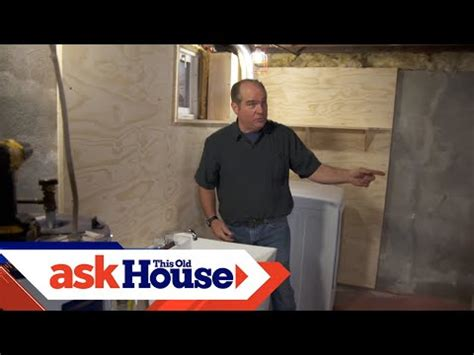 install  basement laundry    house