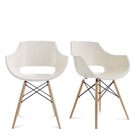 chaises design blanches chaise designer banche skoll piètement bois by drawer