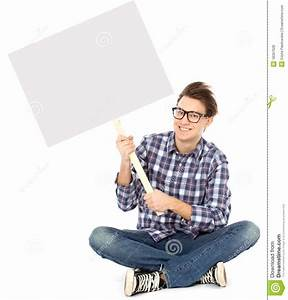 Young Man Holding Blank Poster Royalty Free Stock Photos ...