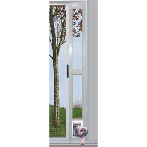 ideal modular aluminum patio pet door white small for