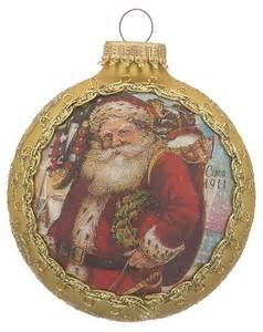 2016 santa on silk 1911 santa claus christmas ornament dated si