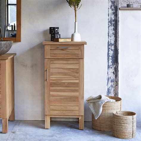 Teak Bathroom Shelving Unit by Tikamoon Soho Teak Bathroom Base Unit 45