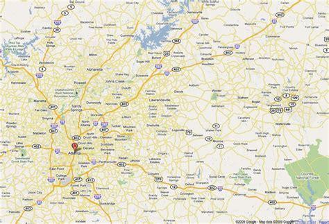 atlanta ga map map  atlanta ga united states  america