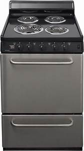 Premier Eck600bp 24 U0026quot  Freestanding Electric Range With 4