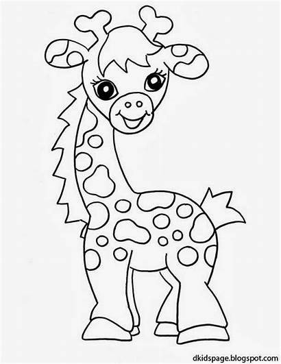 Giraffe Coloring Pages Animals Printable