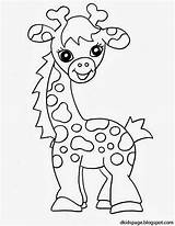 Giraffe Coloring Pages Animals Printable sketch template