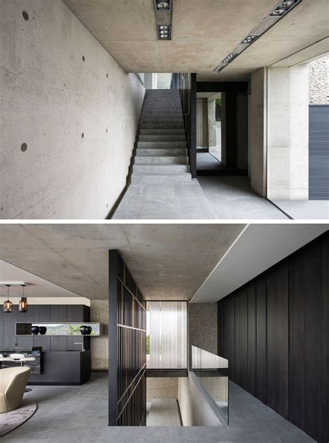 concrete house  designed  amazing views