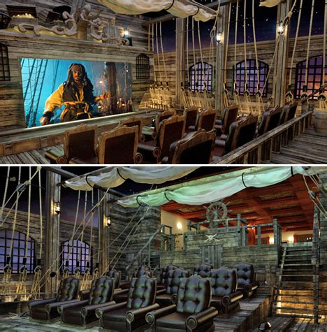 6 Popcornspilling, Oscarworthy Themed Home Theaters
