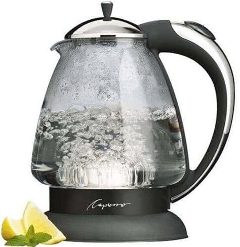 electric kettle kettles capresso plus boiling water boil tea glass rated teapot boiler h2o heat pot h20 cool coolest pretty