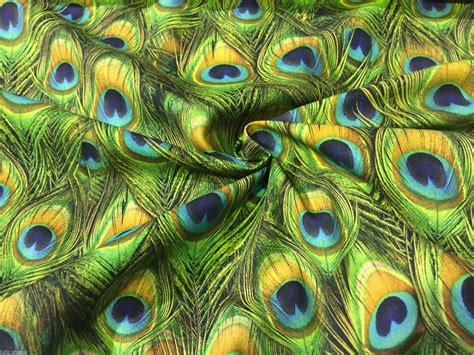 Peacock Feather Upholstery Fabric by Peacock Digital Print Upholstery Curtain Cotton Fabric