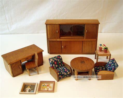 Wohnzimmer MÖbel 30er Jahre Puppenstube Puppenhaus PuppenmÖbel
