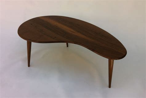 MCM Coffee Table Solid Walnut Kidney Bean Cocktail Table