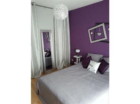 deco chambre violette photo ambiance chambre fille gris et violet