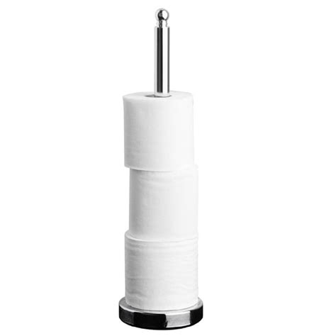 chrome toilet paper holder with small detail
