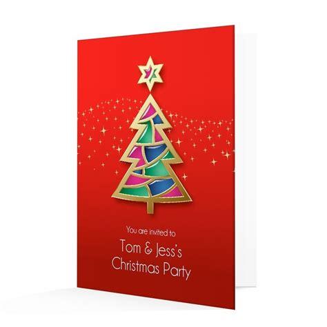 Christmas Invitation Card Contemporary Christmas Tree