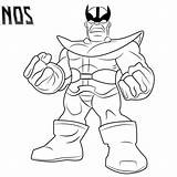 Coloring Thanos Gauntlet Infinity Perez George Drawing sketch template