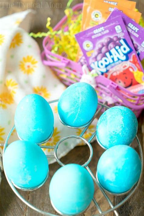 dye eggs  kool aid  typical mom