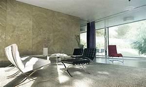 Sitting room marble wall interior design ideas