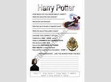 HARRY POTTER ESL worksheet by lolamora3