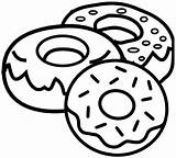 Donut Coloring Pages Yummy Donuts Printable Cartoon sketch template