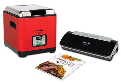 sousvide supreme demi water oven cooking system package  red cutlery