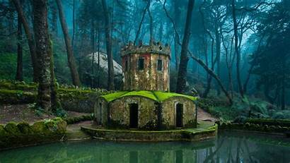 Portugal Sintra Nature Building Forest Water Architecture