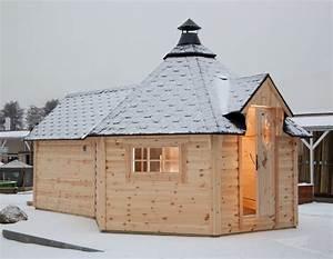 Englische Gartenhäuser Aus Holz : kota wolff grillkota 9 de luxe mit saunaanbau grillhaus gartenhaus aus holz vom garten ~ Markanthonyermac.com Haus und Dekorationen