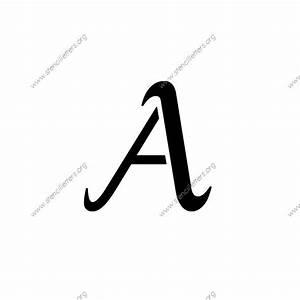 grand ornamental cursive uppercase lowercase letter With 12 inch letter stencils cursive
