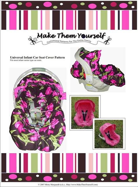 Eversion Of The Universal Infant Car Seat Cover Pattern By