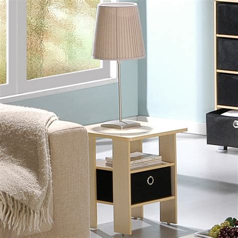 Tables For Bedroom by Furinno End Table Bedroom Stand With Bin Drawer