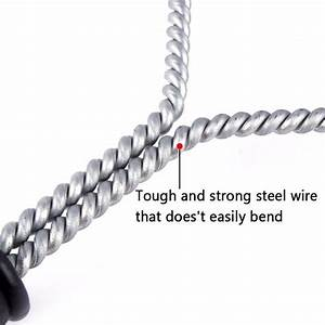 2020 Bbq Wire Grill 12inch 3sided Steel Wire Grill Brush