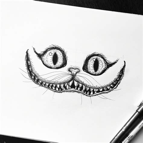 cheshire cat alice  wonderland sketch drawing art