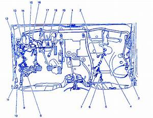 Chevy Metro L-4 2001 Junction Box Electrical Circuit Wiring Diagram