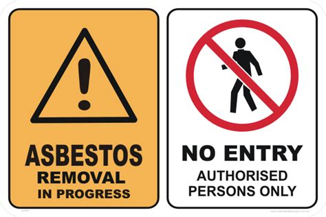 asbestos removal sign buy asbestos warning signs