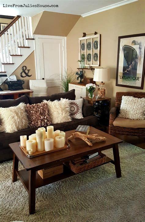 Monochromatic Boho Living Room  Live From Julie's House