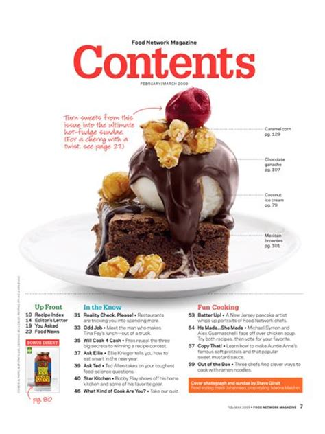 articles cuisine 17 best images about magazine contents page exles on