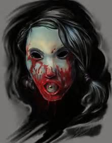 Scary Girl Horror Art
