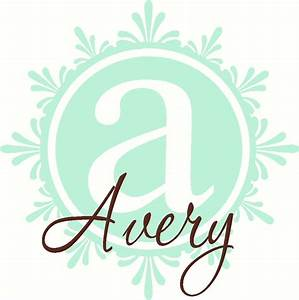 elegant script name and scallop frame with monogram letter With script letter wall decals