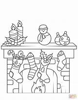 Fireplace Coloring Printable Drawing Dot Puzzle sketch template